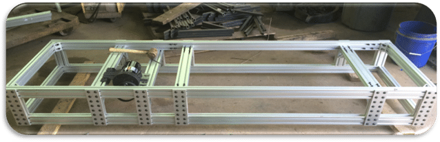 photo of treadmill frame used in experiment